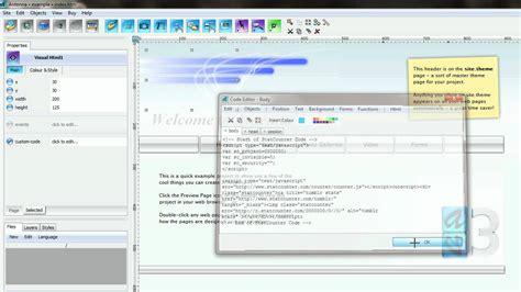 antenna web design studio adding your statcounter