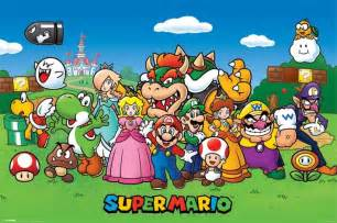 Super mario characters poster sold at europosters