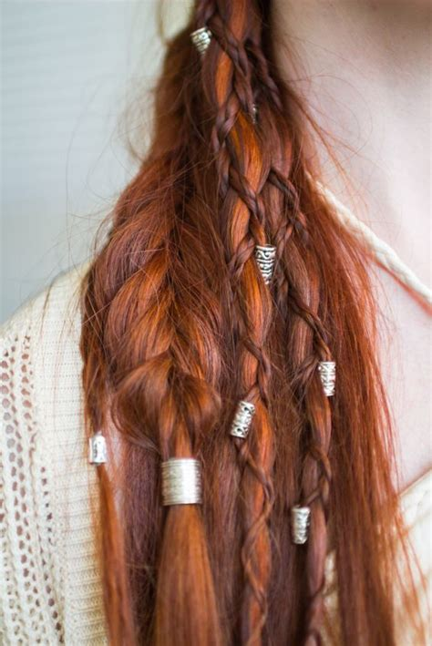 vikings hairstyles how to viking hairstyle with braids and beads really cool