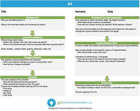 Lean Six Sigma Report Template A3 Template Amp Example
