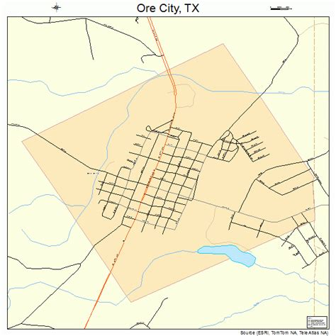 city texas map ore city texas map 4854216