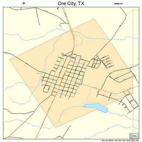 city texas map ore city texas map 4854216