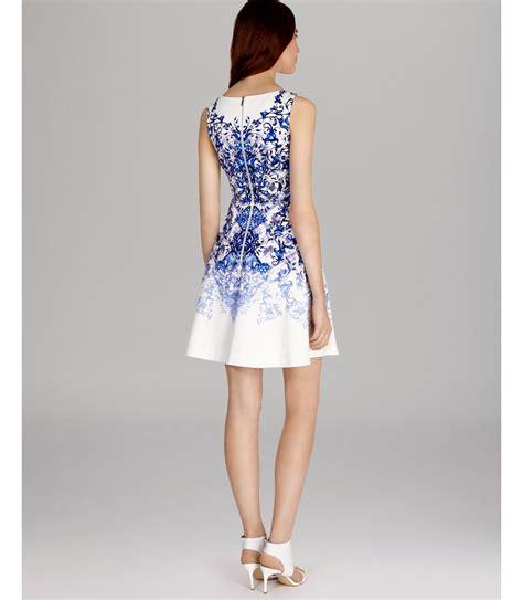 Dress White Tile Lace lyst millen dress tile print in white