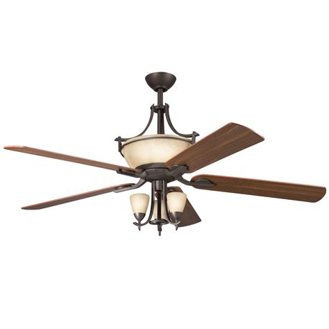 60 ceiling fan with light kichler lighting 300011oz 60 inch olympia ceiling fan