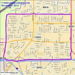 zip code map of 92845 demographic profile residential