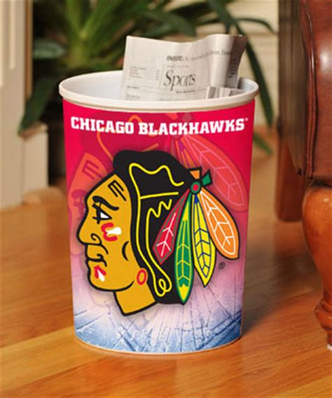 chicago blackhawks glass table l chicago blackhawks nhl office waste basket