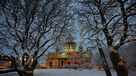 St Snow wallpaper winter church trees snow st petersburg peterhof