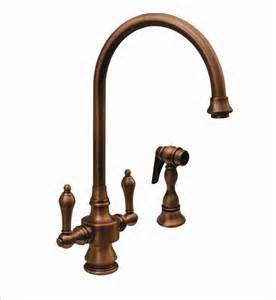 vintage kitchen faucets whitehaus whksdlv vintage dual faucet traditional