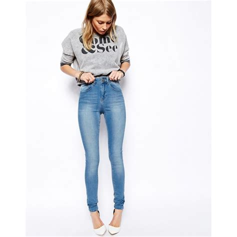 light wash jeans ridley high waist ultra skinny jeans in brookyln light