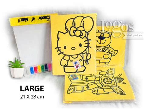 jual mainan lukisan pasir warna karakter anak edukasi