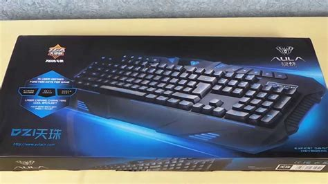 Keyboard Gaming Aula aula dzi gaming keyboard with backlight unboxing on