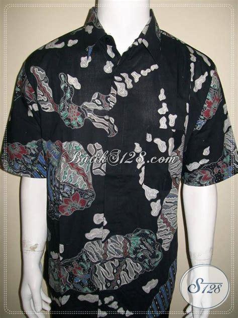 Afrakids Lengan Pendek Uk Xl kemeja batik pria lengan pendek terbaru warna hitam elegan ld518t xl toko batik 2018