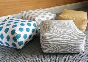 Make A Floor Cushion Diy Easy Boxy Floor Cushions School Of Decorating By