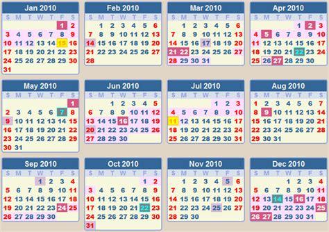 Calendar For 2010 Calendar 2010 School Terms And Holidays South Africa