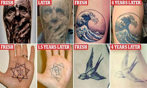 new tattoo looks faded after peeling home daily mail online