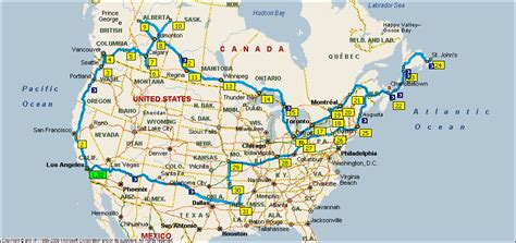 driving map of usa and canada american and canadian road trip 2011 invisible