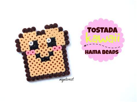 imagenes de tostadas kawaii tostada kawaii de hama beads perler beads youtube