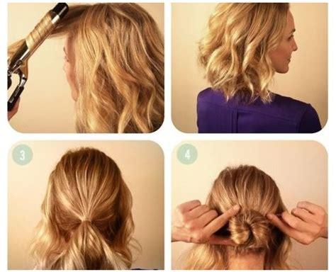 hairstyles short hair tutorial braided bun tutorial for short hair alldaychic