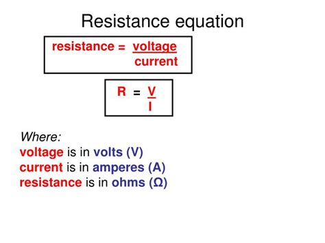 resistor voltage equation ppt edexcel igcse certificate in physics 2 4 electrical resistance powerpoint presentation