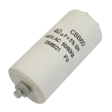 polypropylene capacitor polarity cbb60 ac 450v 50 60hz 40uf 8mm thread non polar polypropylene capacitor wd ebay