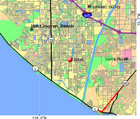 Zip Code Map Huntington Beach Ca | huntington beach zip codes map zip code map
