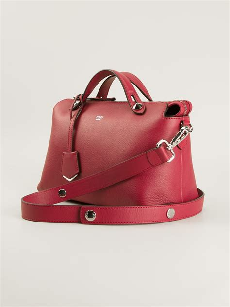 Fendi By The Way M3569 1 lyst fendi by the way leather shoulder bag in