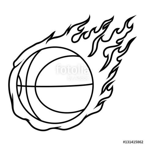 flaming basketball coloring pages flaming basketball coloring pages sketch coloring page