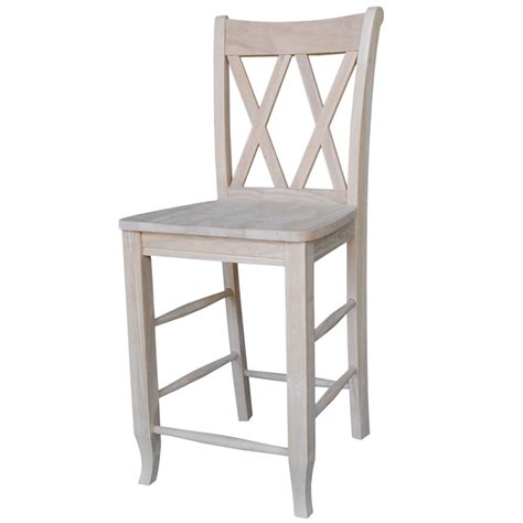 Unfinished Wood Bar Stool 984s202 055