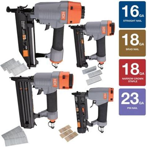 home depot hdx 3 pc nail gun kit 99 black friday special