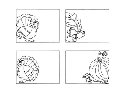 printable thanksgiving place cards to color items similar to diy thanksgiving place cards color your