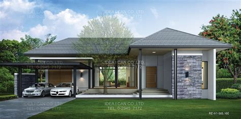 modern one story house cgarchitect professional 3d architectural visualization