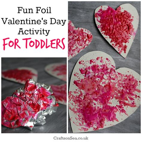 activities for valentines day foil valentines day activity for toddlers crafts on sea