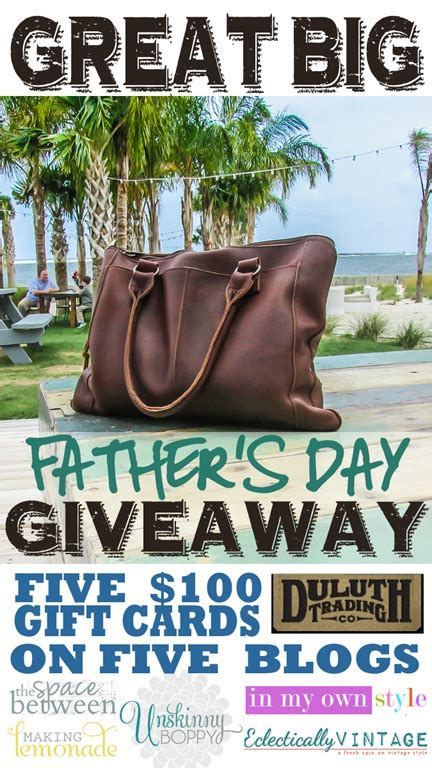 Where Can I Buy Duluth Trading Company Gift Cards - father s day giveaway from duluth trading co unskinny boppy