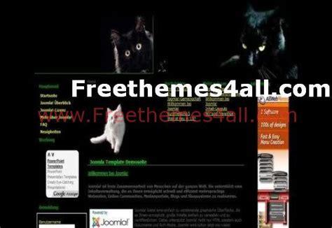 black cats joomla template theme free