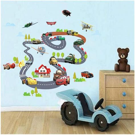 Wall Sticker Wallstiker Wallsticker 60x90 Xy1160 Cars Track cars highway track wall stickers for rooms