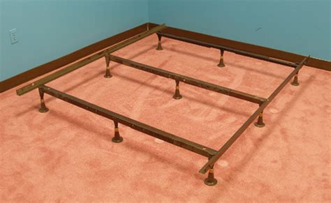 Heavy Duty King Bed Frame Strobel Organic Heavy Duty Metal Bed Frame For Regular Beds Or Waterbeds King