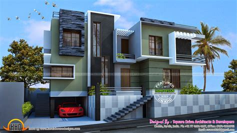 duplex house designs modern duplex house kerala home design and floor plans
