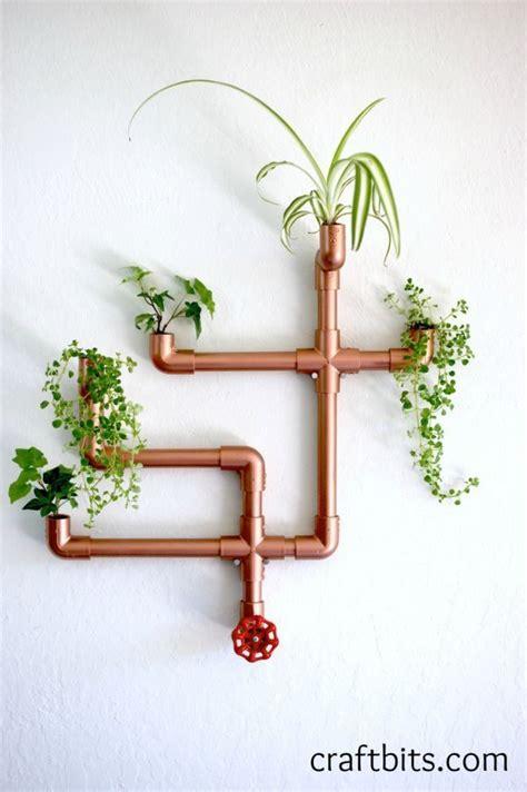 Diy Pvc Planter by Diy Copper Pvc Wall Planter Craftbits