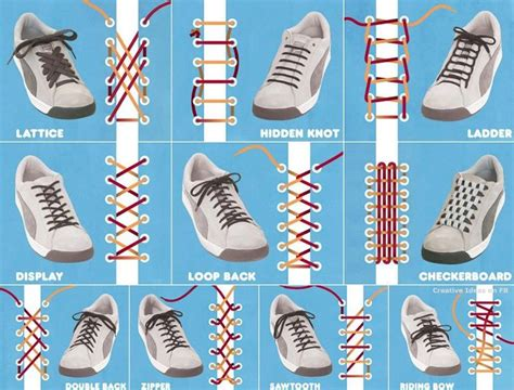 creative ways to tie your shoe laces alldaychic