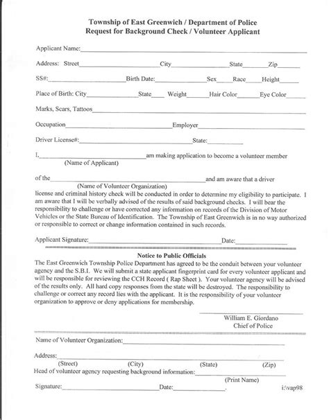 Pa Volunteer Background Check Volunteer Clearance Request Letter Hdvolunteer