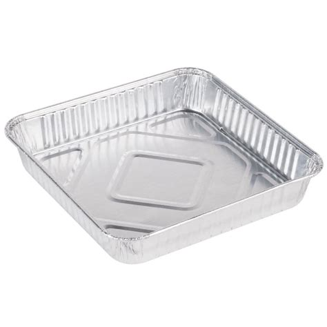 Aluminum Foil Furniture by Durable Packaging 1155 35 8 Quot Square Foil Cake Pan 25 Pack