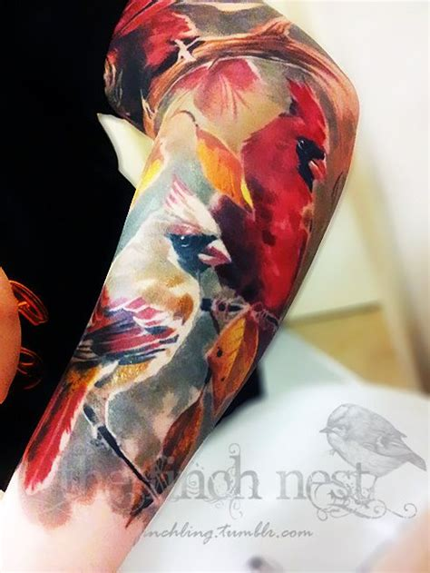 watercolor arm sleeve tattoo white ink tattoos s