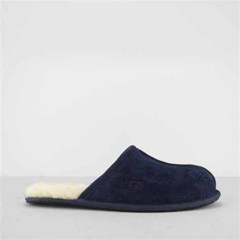 ugg mule slippers ugg scuff mens suede slip on comfy mule slippers navy