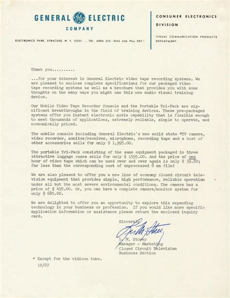 Cover Letter For Ge Internship Labguy S World General Electric 1967 Recorders Advertising Flyer 4