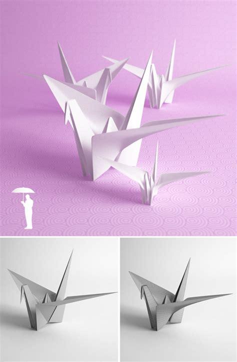 3d Origami Crane - origami crane by konradrakowski 3docean