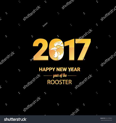 new year 2017 animal happy new year 2017 with golden rooster animal