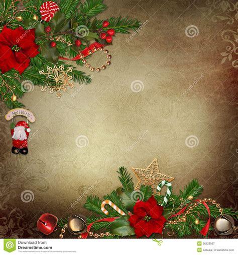 vintage background  beautiful christmas decorations royalty  stock photography image