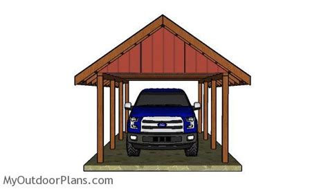 Single Car Carport Plans how to build a carport gable roof myoutdoorplans free woodworking plans and projects diy