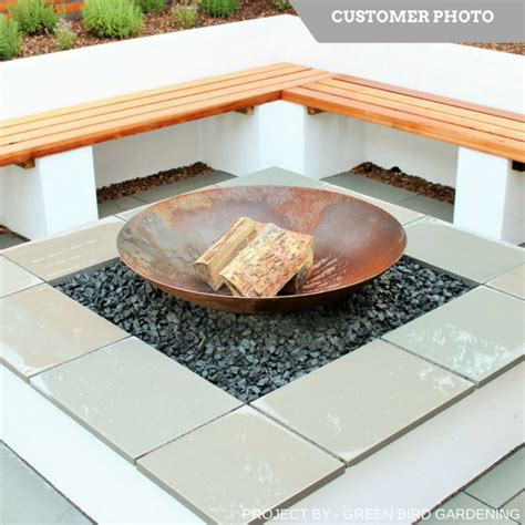 buy corten steel fire pit burners the pot company