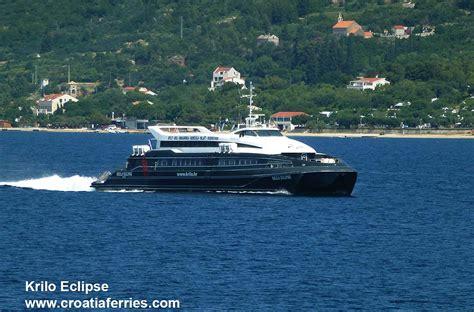 catamaran ferry krilo from dubrovnik to korcula catamaran ferry krilo eclipse passing through the peljesac